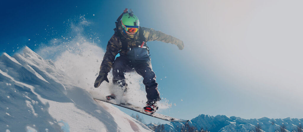 Snowboarder. Avoid injuries this winter